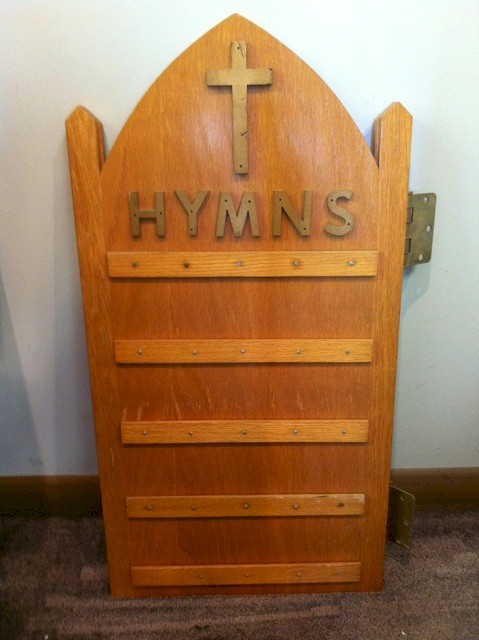 Used Hymnal Board